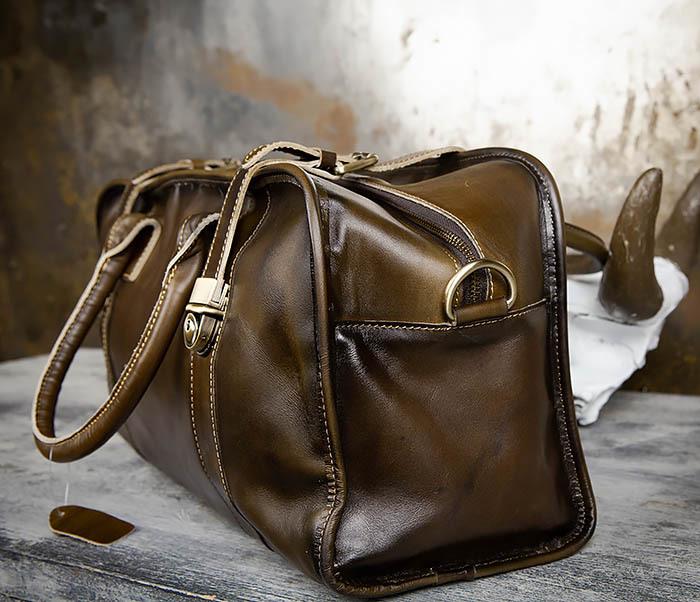 BAG459-3 Мужская дорожная сумка из натуральной кожи фото 07