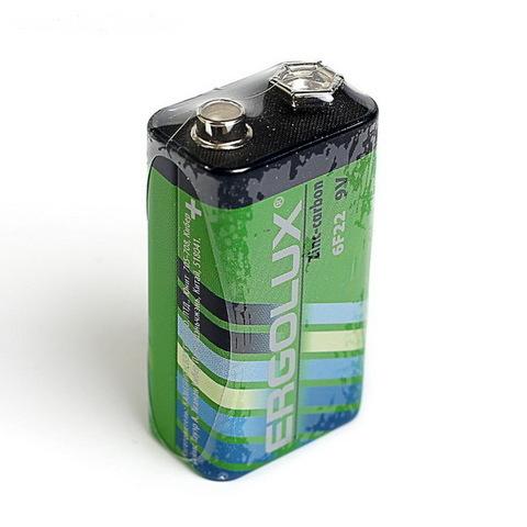 Батарейки ErgoLUX 6F22, 9V (1/10)