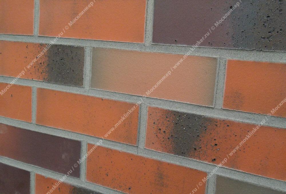 Облицовочная клинкерная плитка Feldhaus Klinker, Salina, R582NF14, terreno bluastro, поверхность расплавленный обжиг