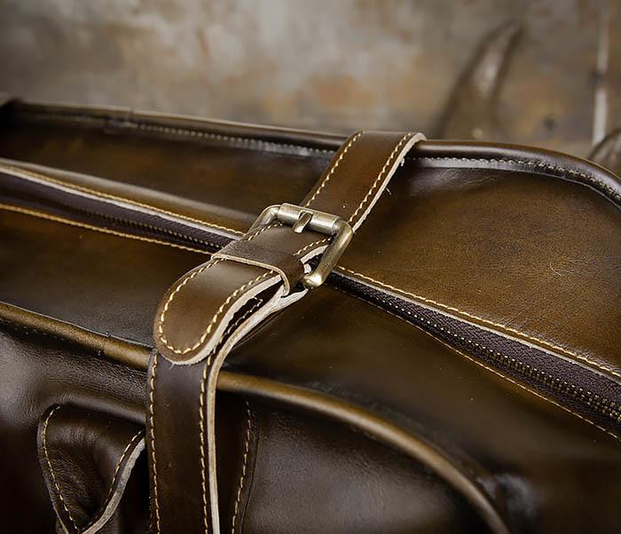 BAG459-3 Мужская дорожная сумка из натуральной кожи фото 08