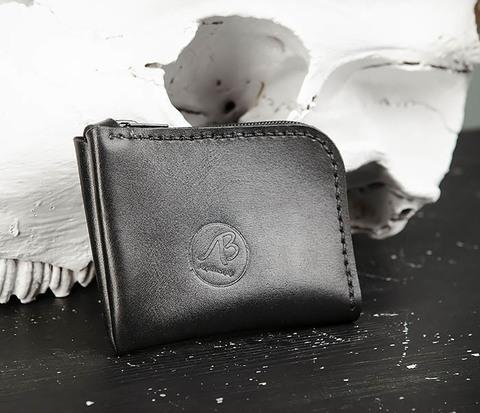 Удобный мини кошелек на молнии ручной работы
