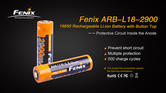 Аккумулятор Fenix Li-ионный размер 18650 3.6V 2900 mAh