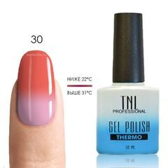 Термо гель-лак TNL 30 - персиково-розовый/молочно-розовый, 10 мл