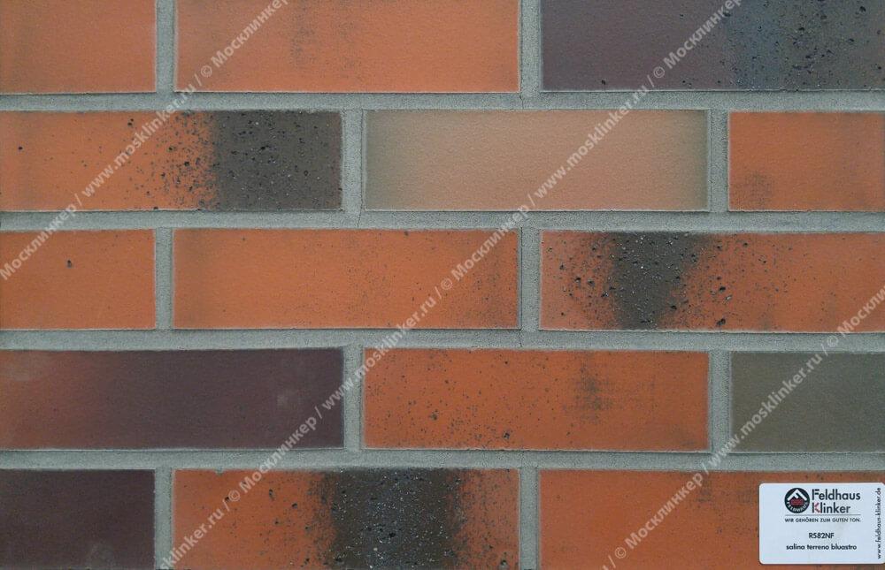 Feldhaus Klinker - R582NF14, Salina Terreno Bluastro, 240x14x71 - Клинкерная плитка для фасада и внутренней отделки