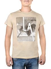 17606-2 футболка мужская, бежевая