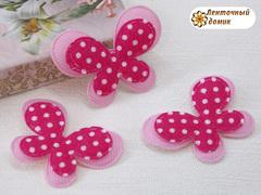 Мягкий декор Бабочки текстильные малиновые