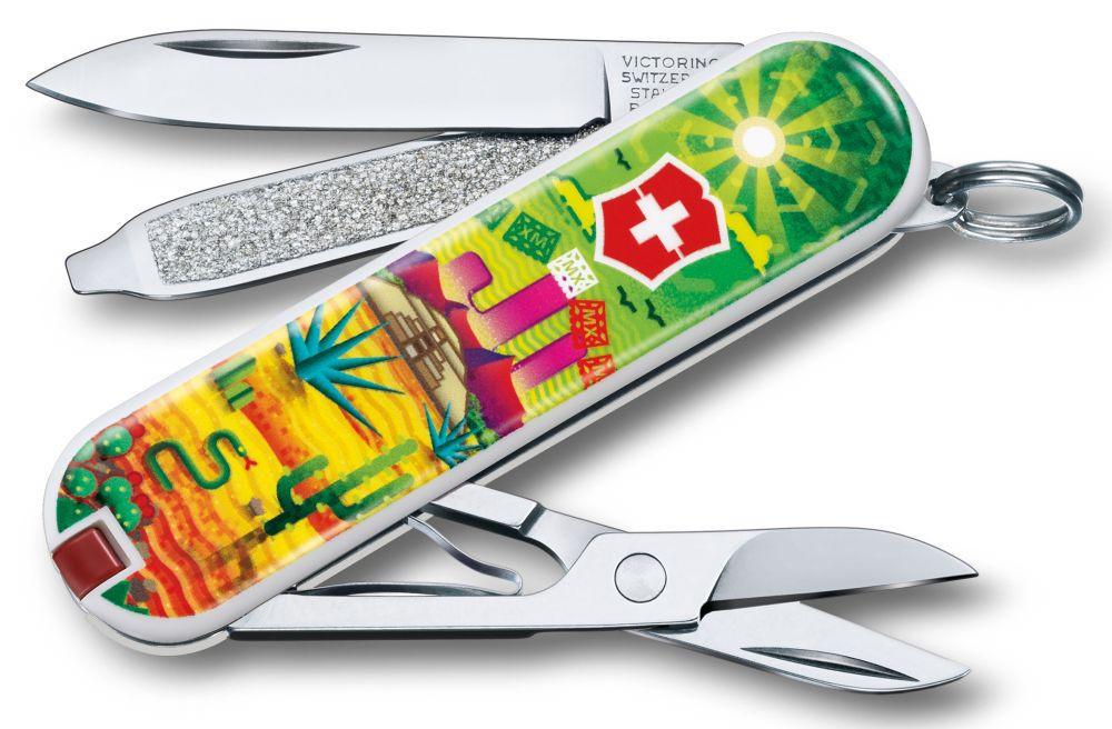 "Нож-брелок Victorinox Classic LE 2018, 58 мм, 7 функций, ""Mexican Sunset"""