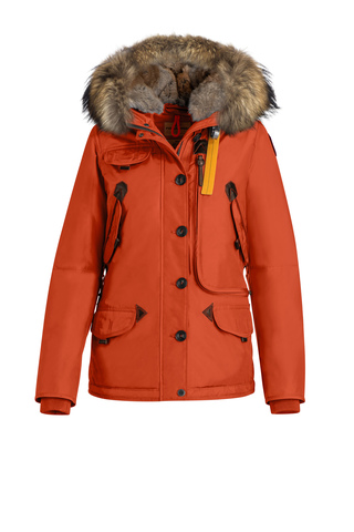 Куртка жен Parajumpers DORIS 723 красная, капюшон енот