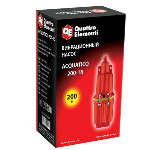 Вибрационный насос QUATTRO ELEMENTI Acquatico 200-16 (200 Вт, 960 л/ч, для чистой, 40м, кабель16 м, 2,7кг)