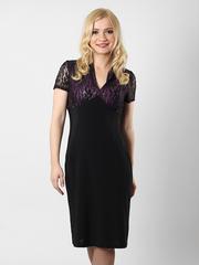 1269-1 платье черно-розовое