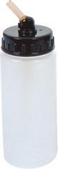 Высокая баночка для краски с крышкой 80мл, с пластиковым штуцером 60 градусов