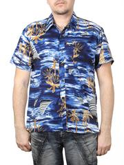 80160-1 рубашка мужская, темно-синяя