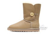 UGG SHORT BAILEY BUTTON METALLIC SAND
