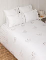 Постельное белье 1 спальное Luxberry Yumi Breakfast белое