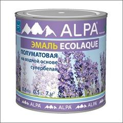 Эмаль для внутренних и наружных работ ALPA Экоэмаль матовая (Белый)