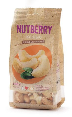 NUTBERRY Кешью жареный соленый 100 г