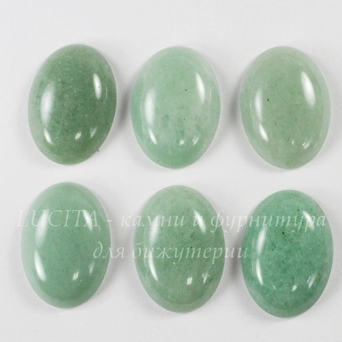 Кабошон овальный Авантюрин зеленый 25х18 мм