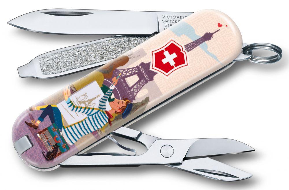 "Нож-брелок Victorinox Classic LE 2018, 58 мм, 7 функций, ""The City of Love"""