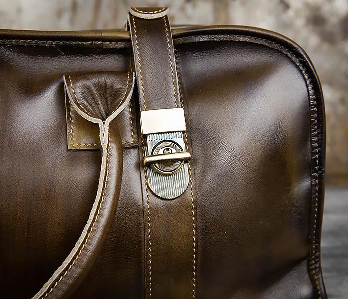 BAG459-3 Мужская дорожная сумка из натуральной кожи фото 11