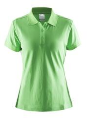 Женская рубашка поло Craft Pique 192467-1606 зеленая
