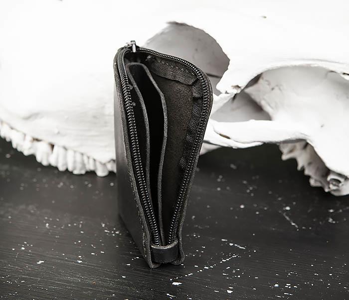 WB183-1 Удобный мини кошелек на молнии ручной работы фото 05
