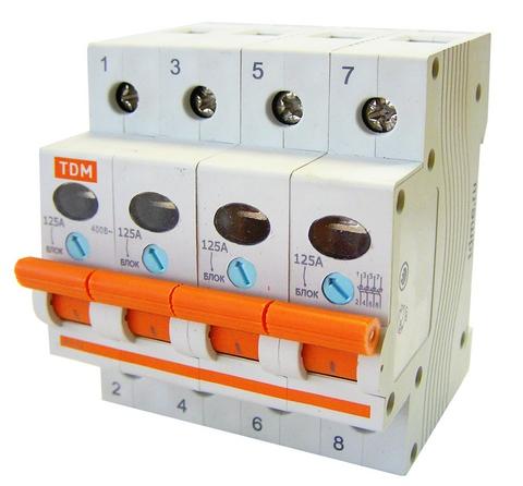 Выключатель нагрузки (мини-рубильник) ВН-32 4P 63A TDM