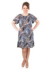 B1227-32-3 платье женское, синее