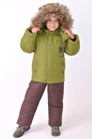 Зимний комбинезон костюм детский на мальчика Alex зеленый