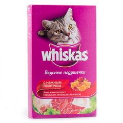 """Корм для кошек Whiskas подушечки с паштетом """"Ассорти с говядиной и кроликом"""" 350 г"""