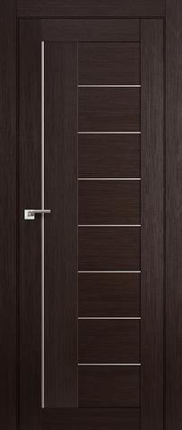 Дверь Profil Doors №17X-Модерн, стекло матовое, цвет венге мелинга, остекленная