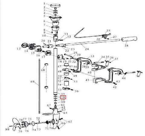 Кольцо уплотнительное 251 для лодочного мотора T3,5 Sea-PRO