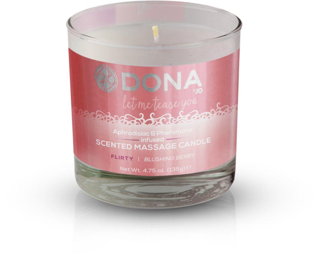 Массажные масла и свечи: Массажная свеча DONA Flirty Blushing Berry - 135 гр.