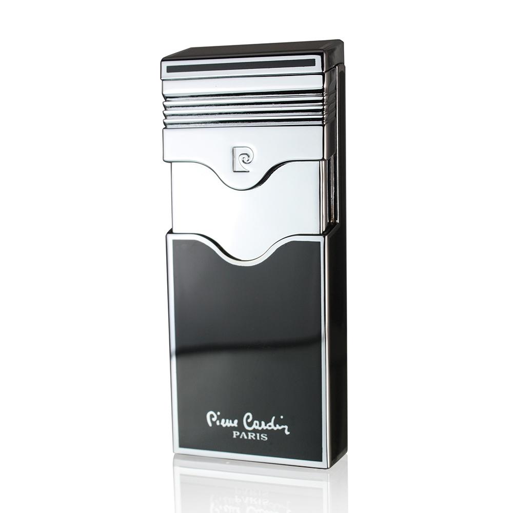 Зажигалка Pierre Cardin газовая турбо, цвет черный лак, 3,1х1,2.х7,6см