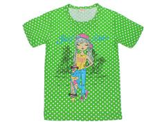 DLM11-68 футболка детская, зеленая