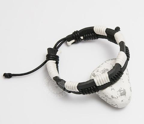 SL0062-KWH Мужской черно-белый браслет