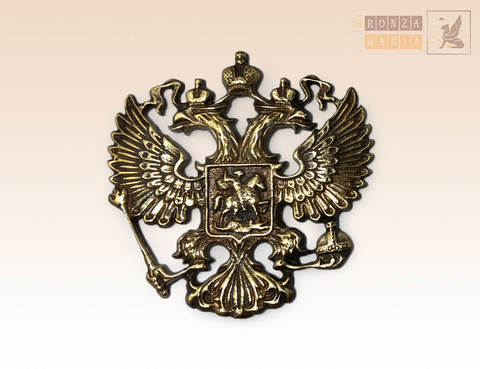 накладка Герб России 4,5х4,5 см