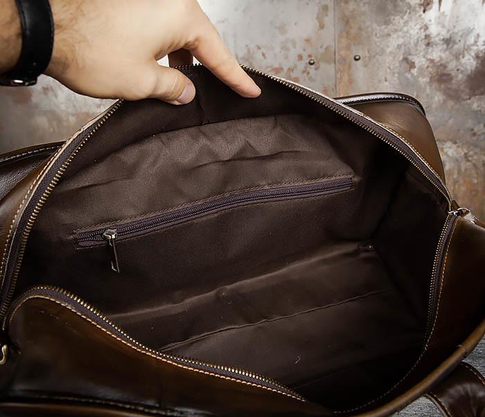 BAG459-3 Мужская дорожная сумка из натуральной кожи фото 14