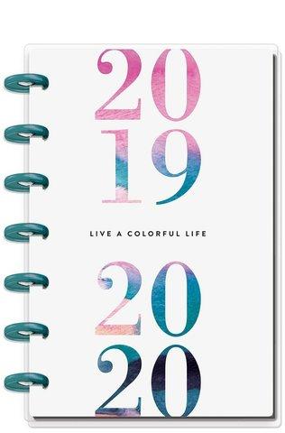 Ежедневник  Mini Happy Planner® -июль 2019 по июнь 2020 -13х18 см - Watercolor