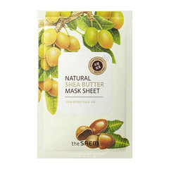 Saem Natural Shea Butter Mask Sheet - Маска тканевая с экстрактом масла ши