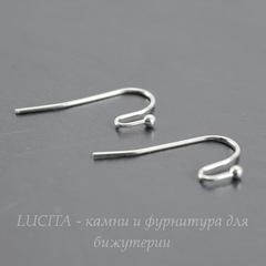 Швензы - крючки c шариком, 22 мм (цвет - серебро), 5 пар