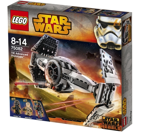 LEGO Star Wars: Улучшенный Прототип Истребителя TIE 75082 — TIE Advanced Prototype — Лего Стар ворз Звёздные войны Эпизод