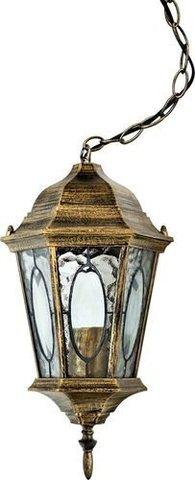 Светильник садово-парковый, 60W 230V E27 черное золото, PL164 (Feron)