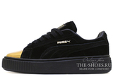 Кеды Женские Puma Suede Creeper Black Gold