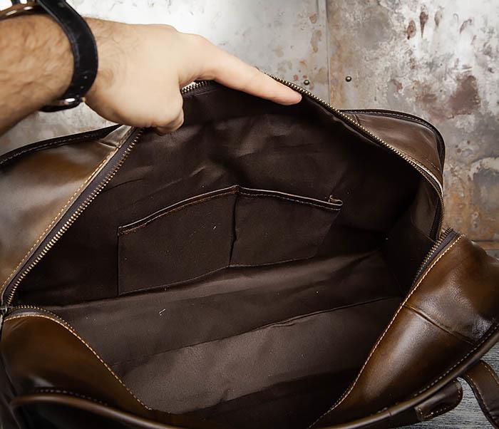 BAG459-3 Мужская дорожная сумка из натуральной кожи фото 15