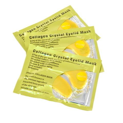 Маска коллагеновая для кожи вокруг глаз с активным золотом Crystal Collagen Gold Powder Eye Mask, 8 мл