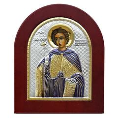 Иоанн Русский исповедник. Икона в серебряном окладе.