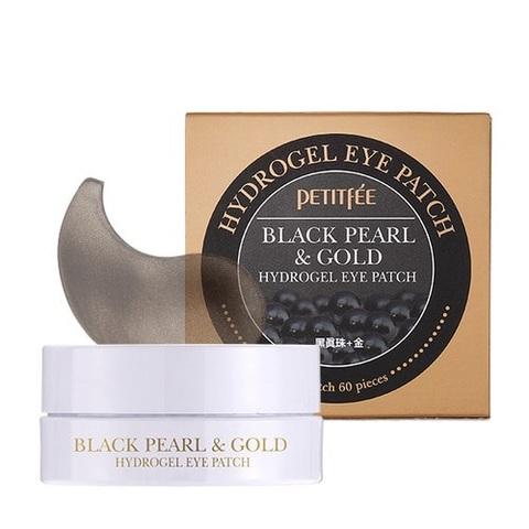 Патчи для глаз PETIFEE Black Pearl & Gold Hydrogel Eye Patch 60 шт.