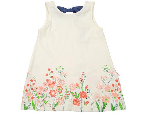 Белое платье с цветочным рисунком Mini-Maxi (арт.UD3193(1))