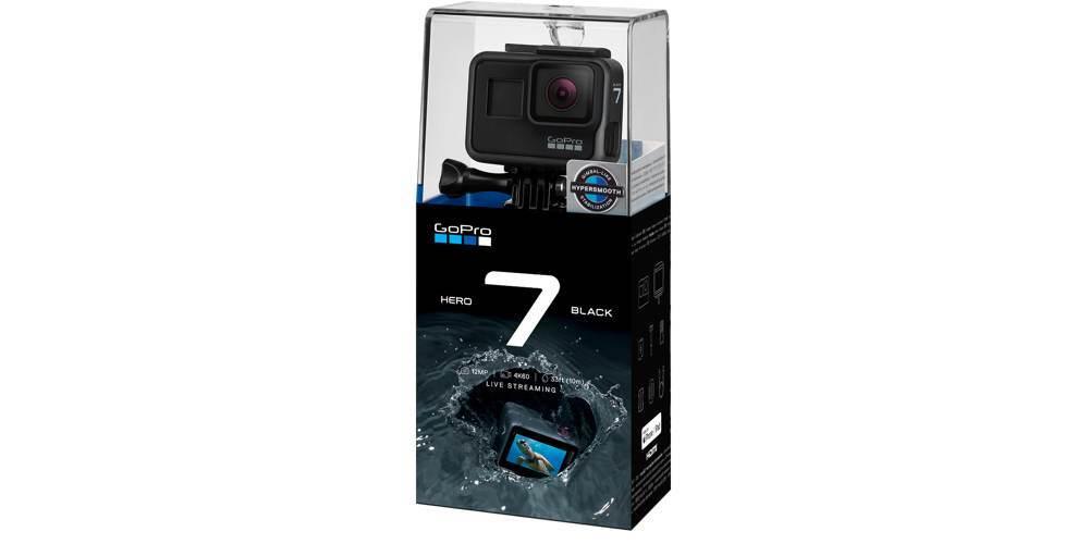 Экшн-камера GoPro HERO7 Black Edition (CHDHX-701-RW) в упаковке