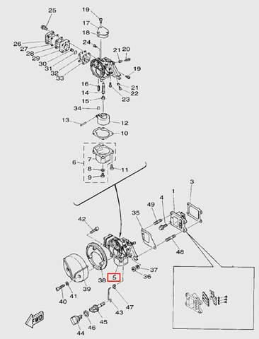 Карбюратор  для лодочного мотора T5 Sea-PRO (3-5)